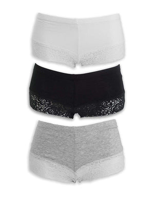 Everyday Lace Boyshorts | Pearl Palette