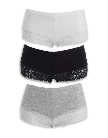 Image of Everyday Lace Boyshorts | Pearl Palette - Emprella