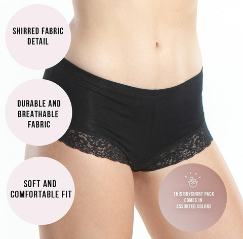 Image of Everyday Lace Boyshorts | Glam Palette - Emprella
