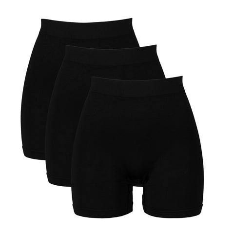 3-Pack Activewear Slip Shorts | 3-Pack Black Bike Shorts | Cotton Spandex Stretch Boyshorts for YogaYoga