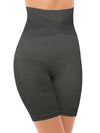 Women's Waist Trainer Charcoal Gray Shapewear Tummy Control Body Shaper Shorts Hi-Waist Thigh Slimmer Reduces Chafing