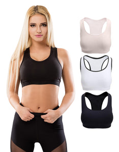Racerback Sports Bras, Removable Padded Seamless Activewear Fitness Bra