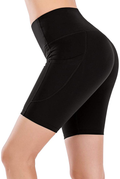 High Waist Yoga Running Compression Biker Shorts for Workouts Exercise with 3 Pockets