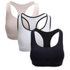 Single Racerback Sports Bra Assorted Colors, Removable Padded Seamless Activewear Fitness Bra