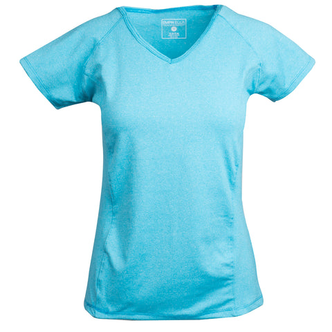 Emprella Womens Short Sleeve Active Training V-Neck T-Shirt