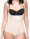 Powermesh Shapewear Bodysuit with Front Zipper