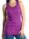 Junior Softstyle Colorful Cotton Racerback Tank Top