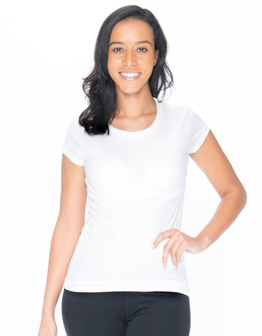 Solid Scoop-Neck T-Shirt - Emprella