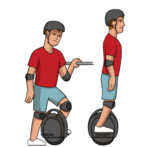 Learning to ride an electric unicycle