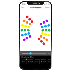 InMotion V8 App iOS Apple RGB Light Patterns