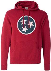 TriStar Vintage Red Hooded Sweatshirt