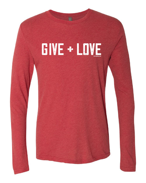 GIVE + LOVE LONG SLEEVE TRIBLEND