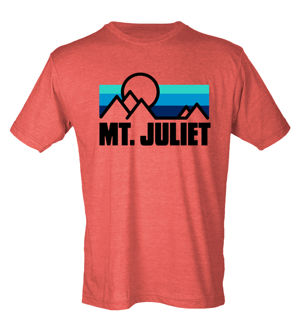 Mt. Juliet - RED -Vintage Soft Short Sleeve Tee