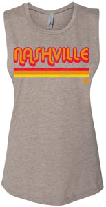 Nashville Stripes - Ladies Muscle Tees