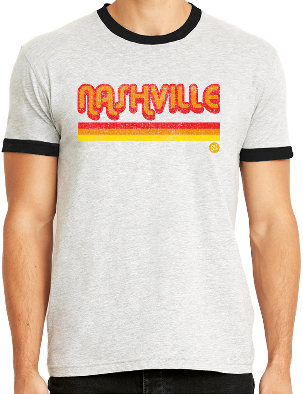 NASHVILLE STRIPES RINGER TEE