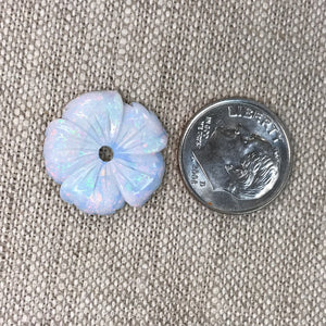 Sterling Opal Carved 18mm Flower
