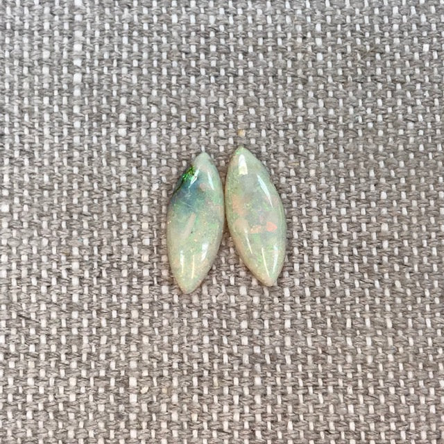 Sterling Opal 7x18mm Marquise Cabochon Set