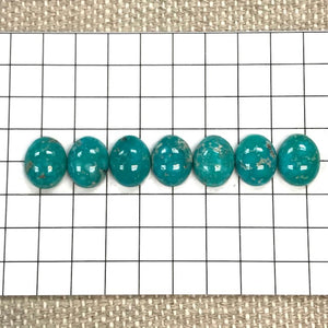 White Water Turquoise Calibrated Cabochon Set