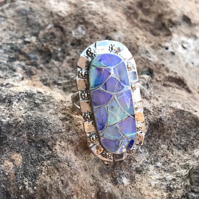 Sterling Opal Ring