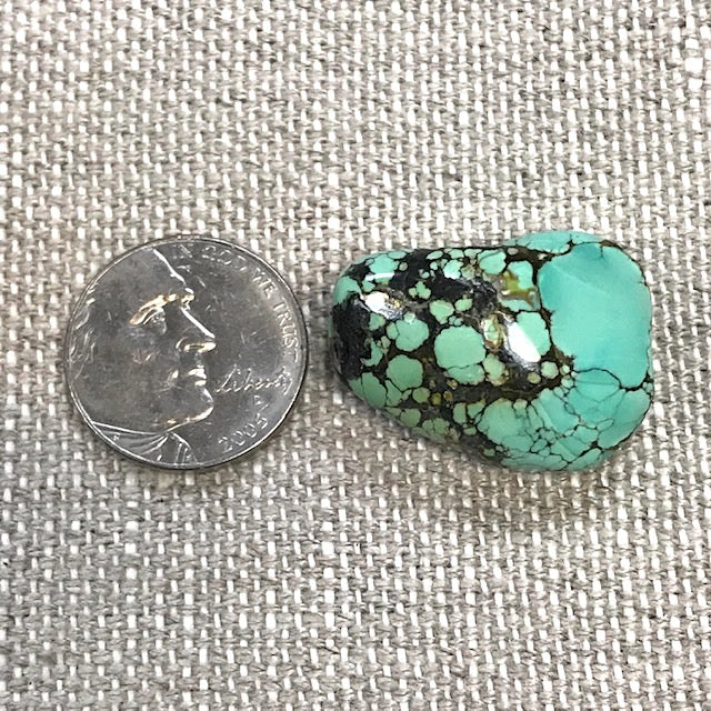 Hubei Turquoise Free Form Bead w/ 3mm Hole