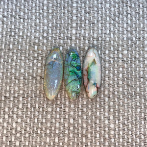 Sterling Opal 5x15 Oval Cabochon Set of 3