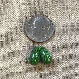 Emerald Valley Top Drilled Drops -- Set of 2