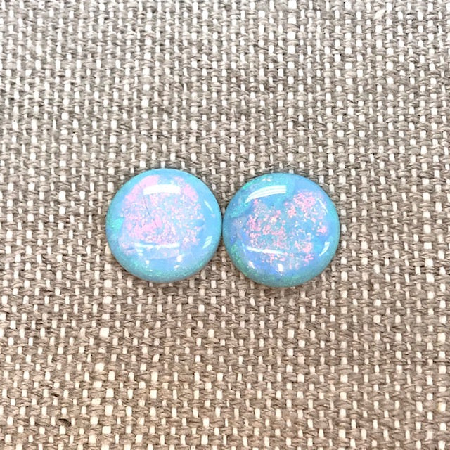 Sterling Opal 14mm Round Cabochon