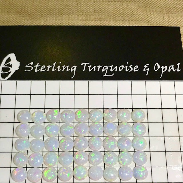 Sterling Opal 6mm Rounds -- 45 pc