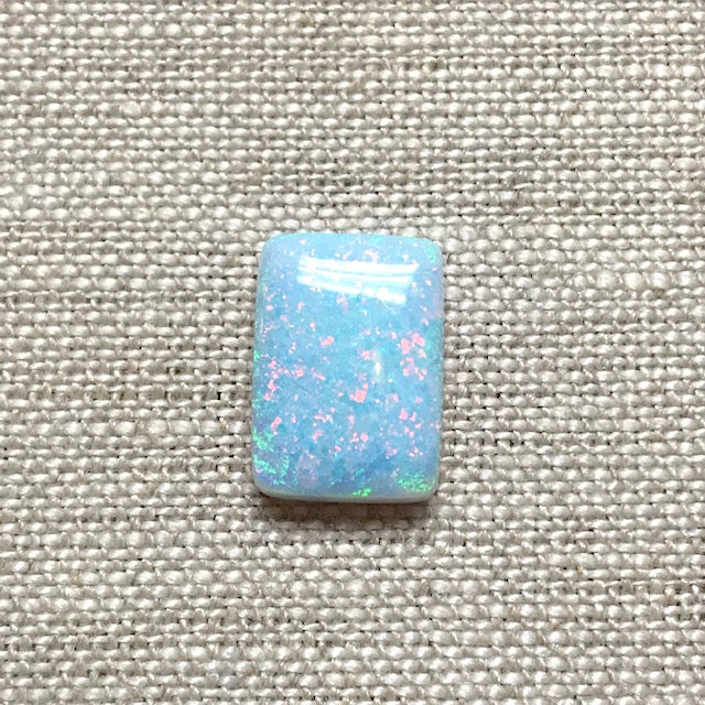 Sterling Opal 10x14mm Rectangle Cabochon