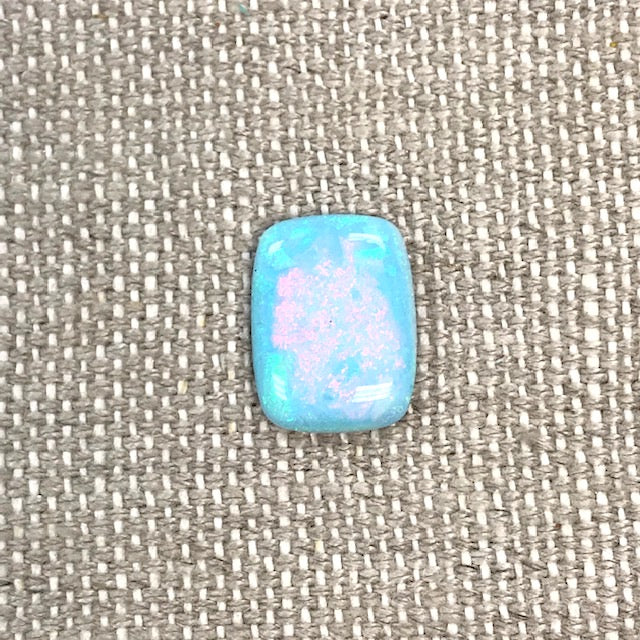 Sterling Opal 12x16mm Rectangle