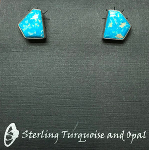 Contemporary Kingman Turquoise Earrings