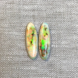 Sterling Opal 8x24mm Oval Cabochon Set