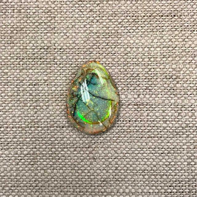 Sterling Opal 13x18mm Pear Cabochon
