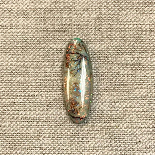 Sterling Opal 10x30mm Oval Cabochon