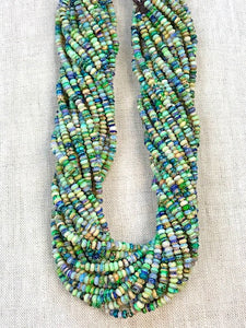 "Sterling Opal 4mm Rondelles -- 16"" Strands"