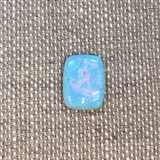 Sterling Opal 12x16mm Rectangle Cabochon
