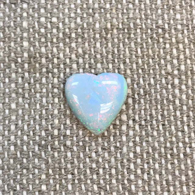 Sterling Opal 12mm Heart Cabochon