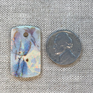 Sterling Opal Dog Tag