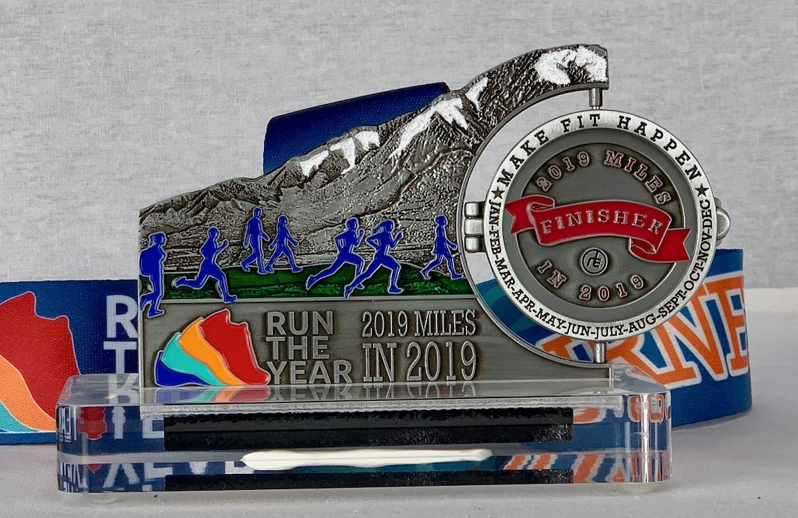 Run The Year 2019 Medal Run The Edge Store