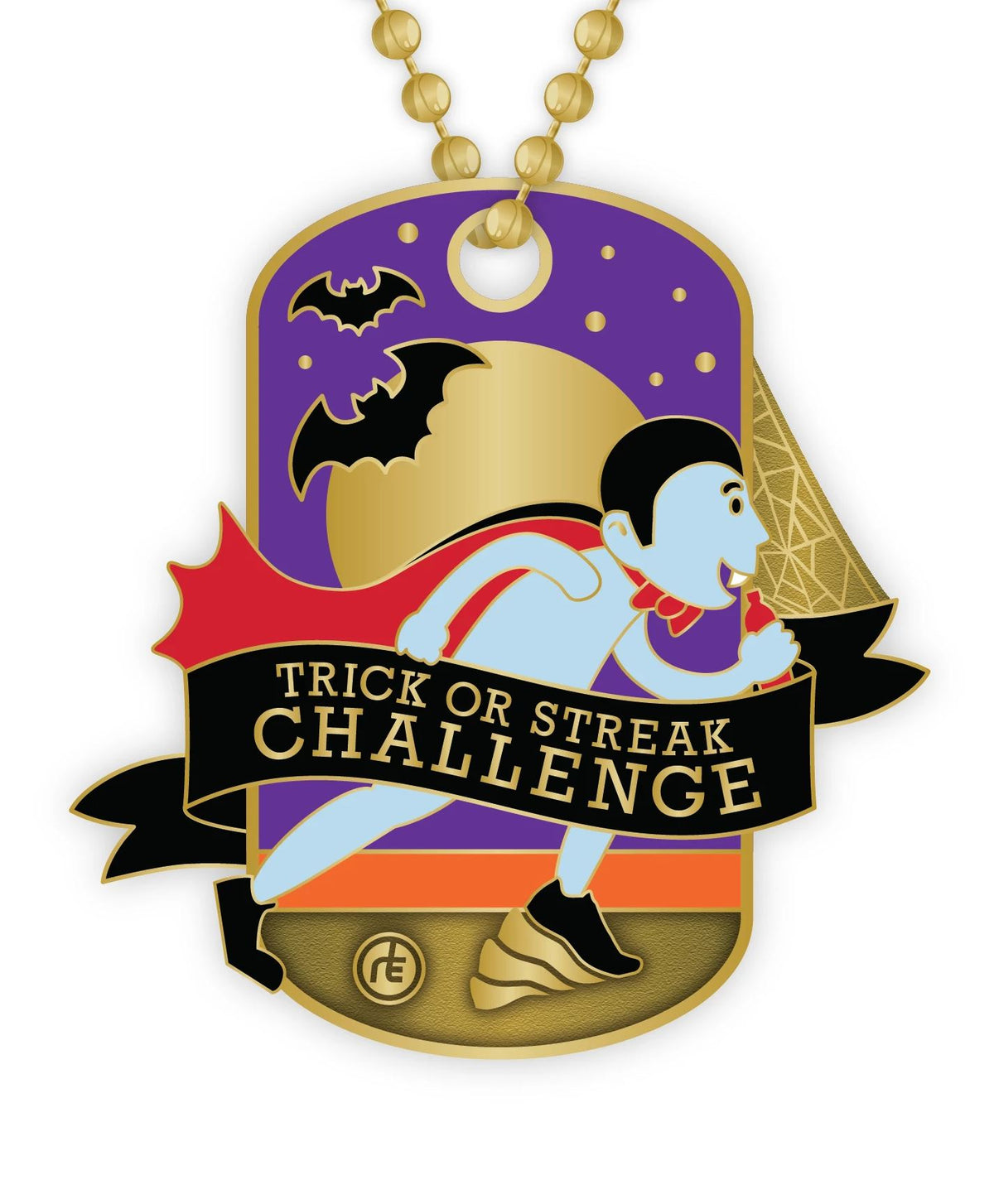 2020 Trick or Streak Dog Tag Medals Run The Edge Store