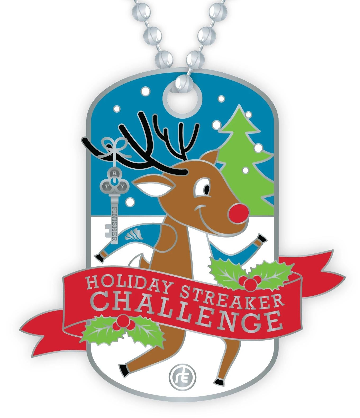 2020 Holiday Streaker Dog Tag Medals Run The Edge Store