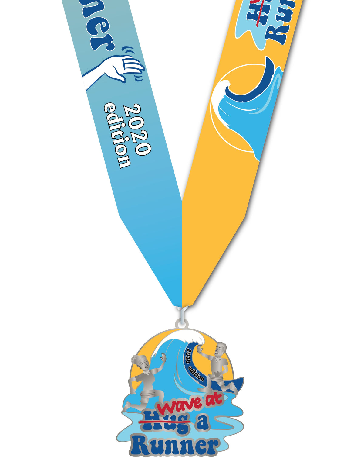 2020 Wave At A Runner 5K for $5K Shirt and Medal ONLY Combo Registrations Run The Edge Store