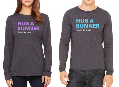 Hug A Runner Poly-Blend Long Sleeve Shirt Shirts Run The Edge