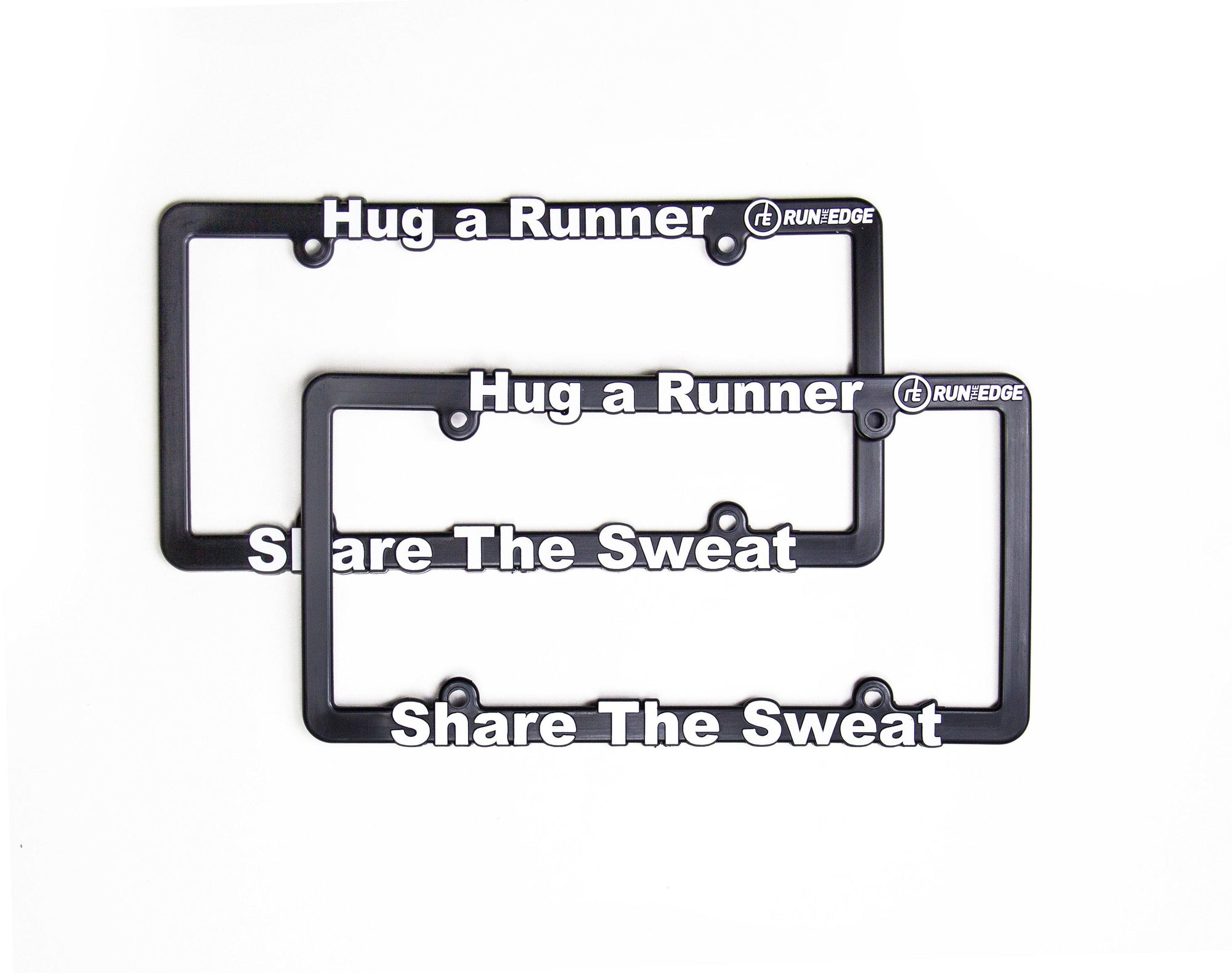 Hug a Runner License Plate Frame Accessories Run The Edge
