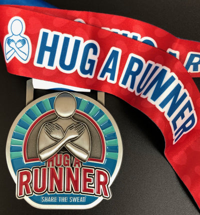 Hug A Runner Medal Medals Run The Edge