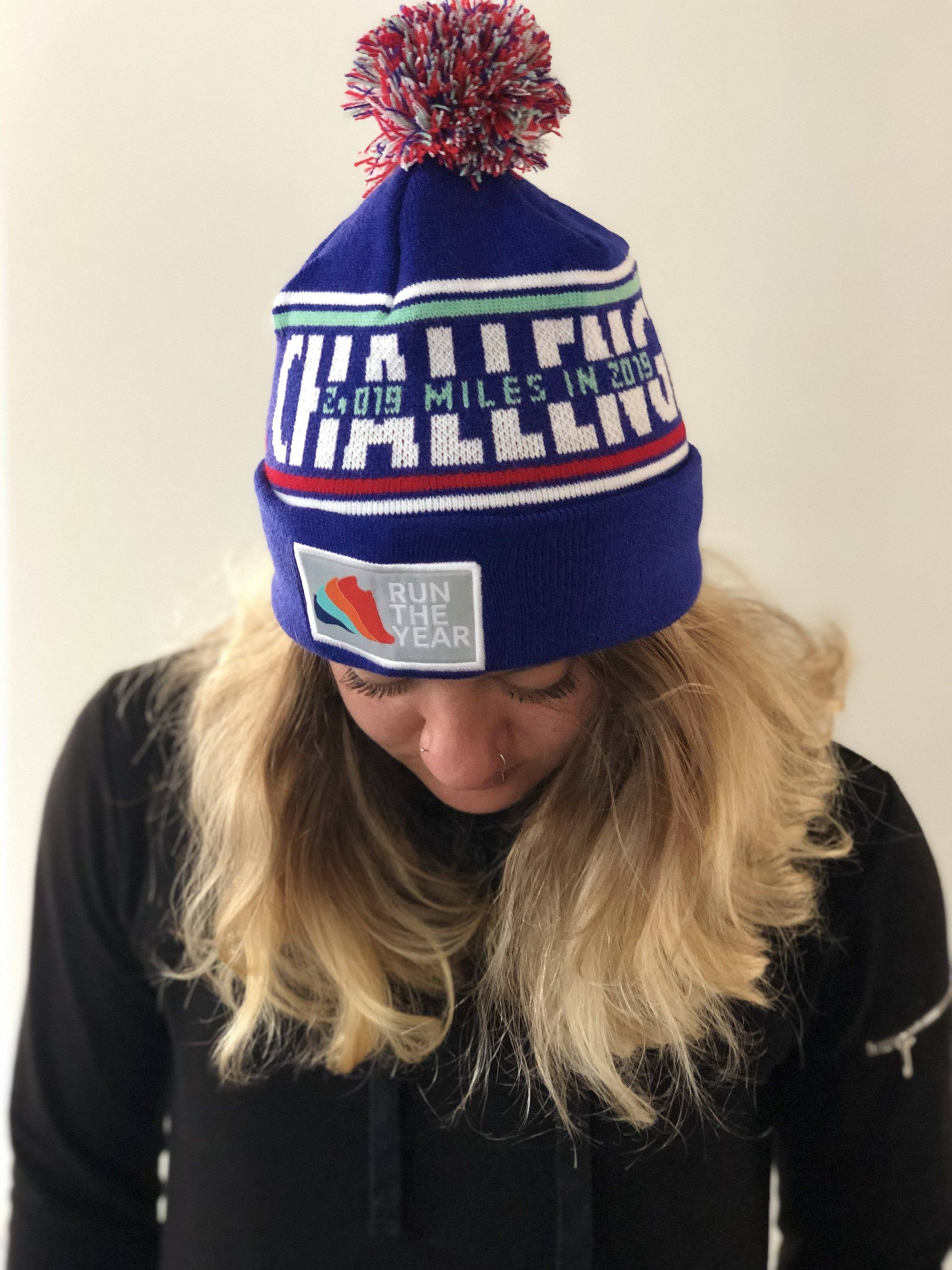 Run The Year 2019 Pom Pom Beanie Accessories Run The Edge