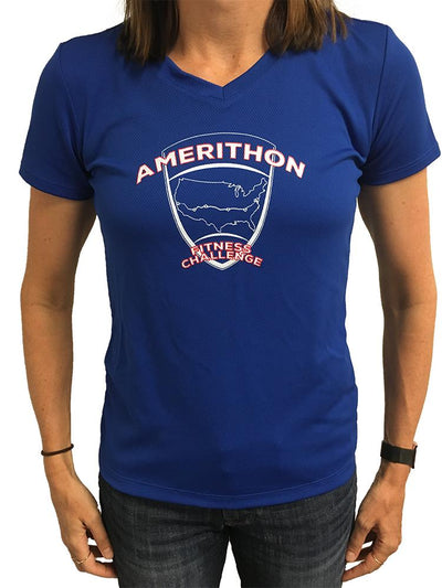 Amerithon Challenge Blue Tech Shirt