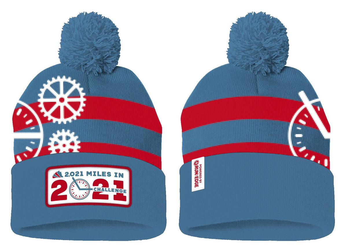 Run The Year 2021 Pom Pom Beanie Accessories Run The Edge