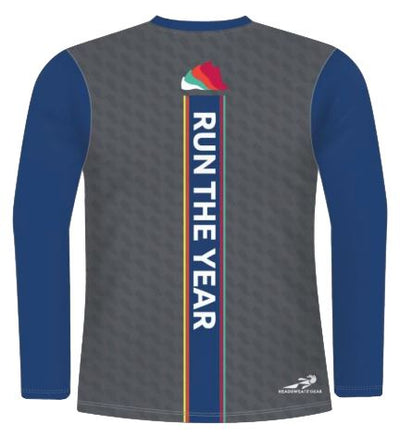 Run The Year 2019 Sublimated Long Sleeve Tech-T Shirts Run The Edge