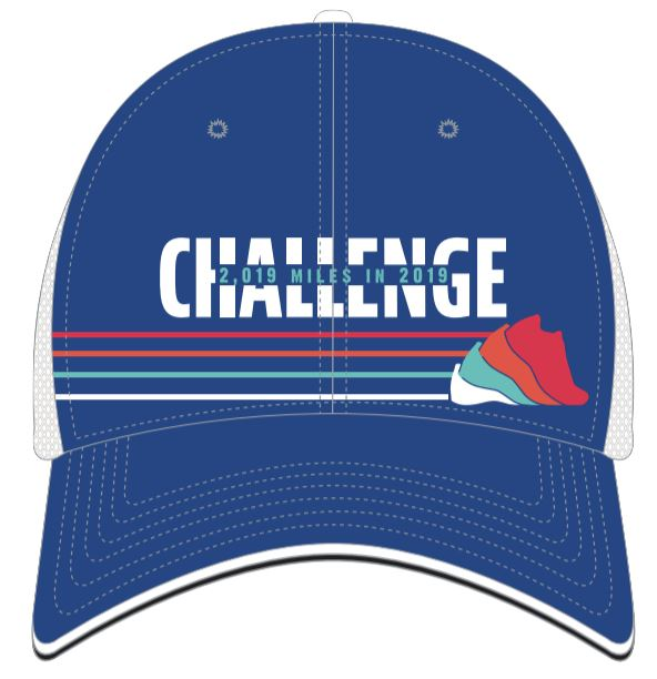 Run The Year 2019 Technical Trucker Hat - Multicolored Stripes Accessories Run The Edge